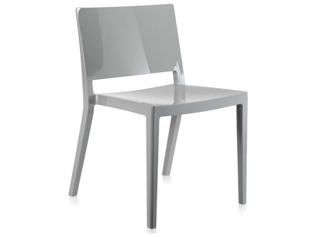 Kartell Outdoor Lizz Grey Resin Dining Chair (Sold in 2)