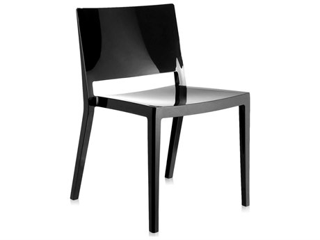 Kartell Outdoor Lizz Black Resin Dining Chair (Sold in 2)