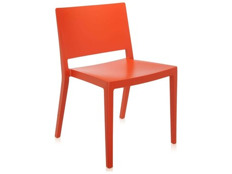 Kartell Outdoor Lizz Orange Resin Dining Chair (Sold in 2)