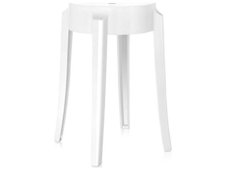 Kartell Outdoor Charles Ghost Glossy White Resin Dining Chair (Sold in 2)