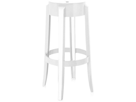 Kartell Outdoor Charles Ghost Glossy White Resin Bar Stool (Sold in 2)