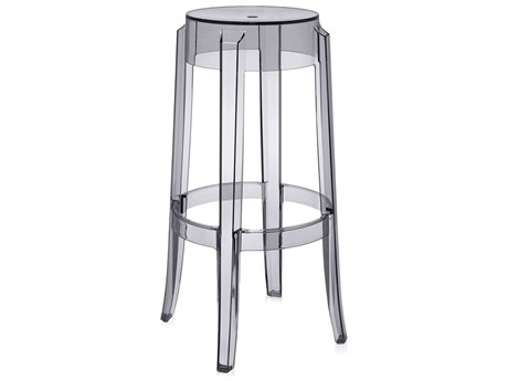 Kartell Outdoor Super Smoke Grey Resin Bar Stool (Sold in 2)