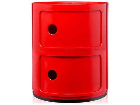 Kartell Outdoor Componibili Red Storage Rack PatioLiving