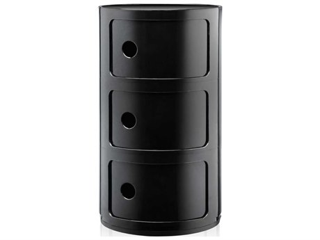 Kartell Outdoor Componibili Black Storage Rack PatioLiving