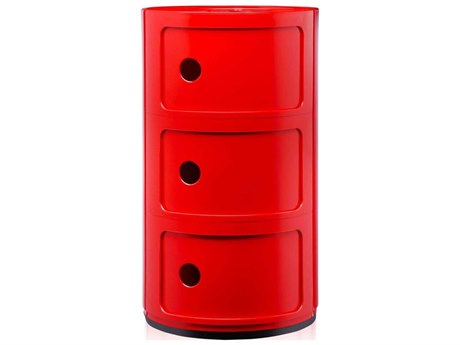 Kartell Outdoor Componibili Red Storage Rack