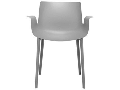 Kartell Outdoor Piuma Opaque Grey Resin Dining Chair