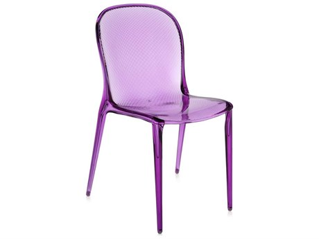 Kartell Outdoor Thalya Transparent Violet Resin Dining Chair (Sold in 2)