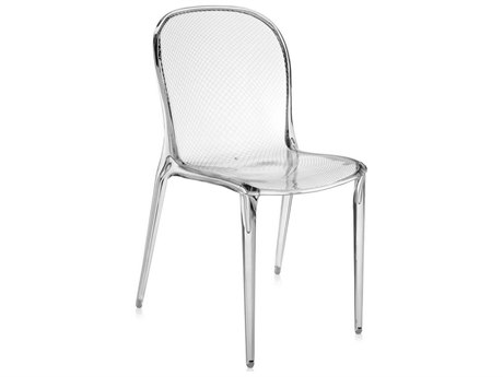 Kartell Outdoor Thalya Transparent Crystal Resin Dining Chair (Sold in 2)