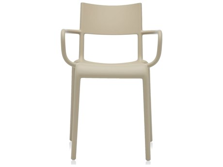Kartell Outdoor Generic Dove Grey Resin Dining Chair (Sold in 2)
