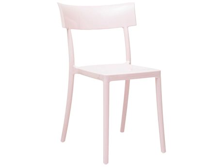 Kartell Outdoor Catwalk Rose Resin Dining Chair (Sold in 2)