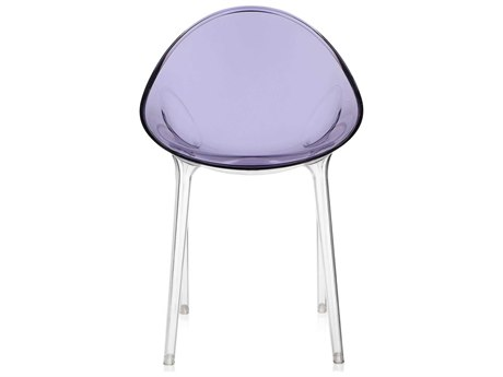 Kartell Outdoor Mr Impossible Transparent Purple Resin Dining Chair
