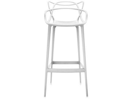 Kartell Outdoor Masters Opaque White Resin Bar Stool