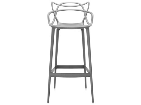 Kartell Outdoor Masters Opaque Grey Resin Bar Stool