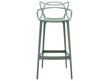 Kartell Outdoor Masters Opaque Sage Green Resin Bar Stool