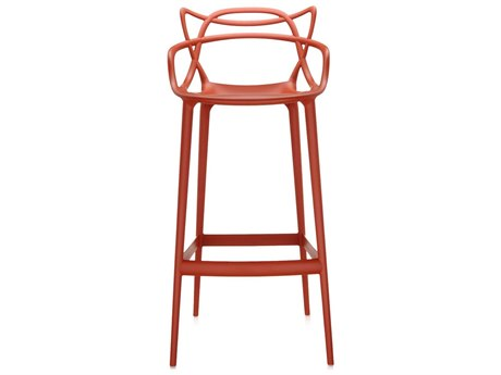 Kartell Outdoor Masters Opaque Rust Resin Bar Stool