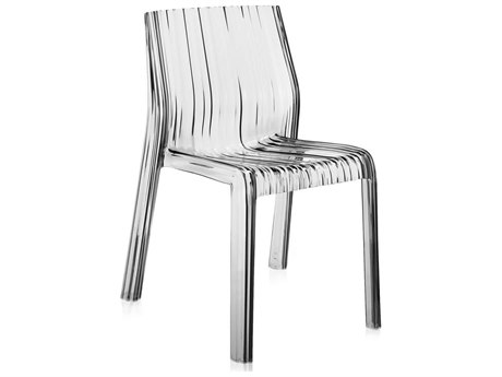 Kartell Outdoor Frilly Transparent Crystal Resin Dining Chair (Sold in 2)