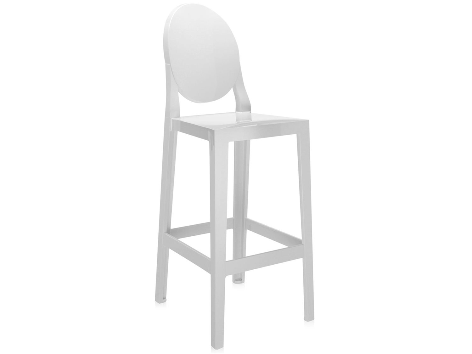 Astounding Kartell Outdoor One More Opaque White Resin Bar Stool Sold In 2 Bralicious Painted Fabric Chair Ideas Braliciousco