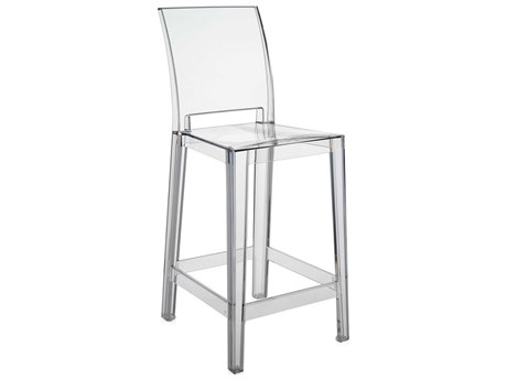 Kartell Outdoor One More Opaque Crystal Resin Counter Stool (Sold in 2)
