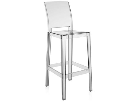 Kartell Outdoor One More Opaque Crystal Resin Bar Stool (Sold in 2)