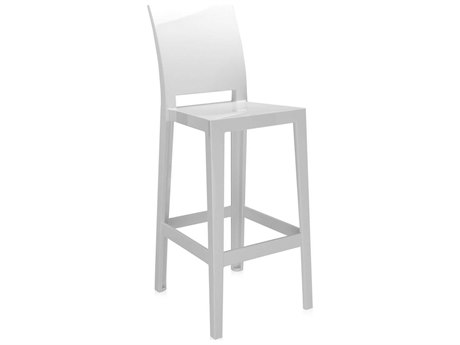 Kartell Outdoor One More Opaque White Resin Bar Stool (Sold in 2)