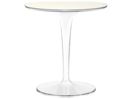 Kartell Outdoor Tip Top Glossy White Resin Round Bistro Table