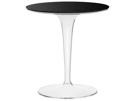 Tip Top Glossy Black Resin Round Bistro Table