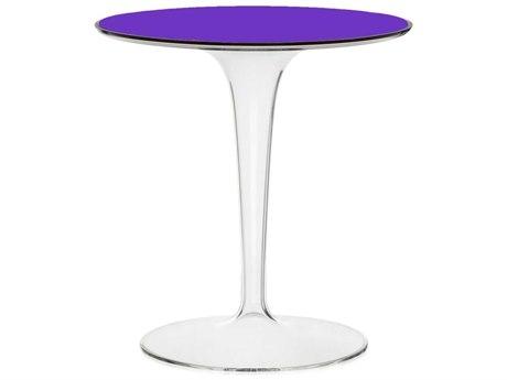 Kartell Outdoor Tip Top Transparent Violet Resin Round Bistro Table