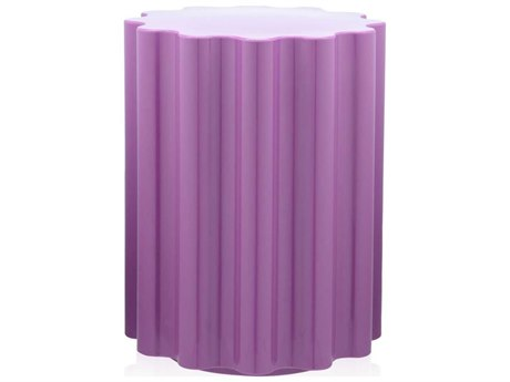 Kartell Outdoor Colonna Purple Resin Dining Chair
