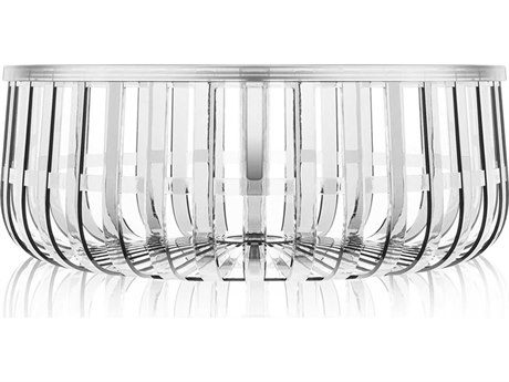 Kartell Outdoor Panier Transparent Crystal Resin Round Coffee Table