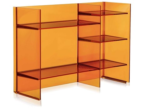 Kartell Outdoor Sound Transparent Amber Storage Rack