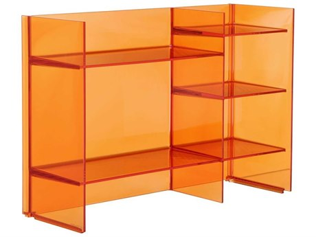 Kartell Outdoor Sound Transparent Tangerine Storage Rack