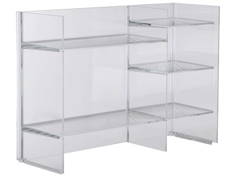Kartell Outdoor Sound Transparent Crystal Storage Rack