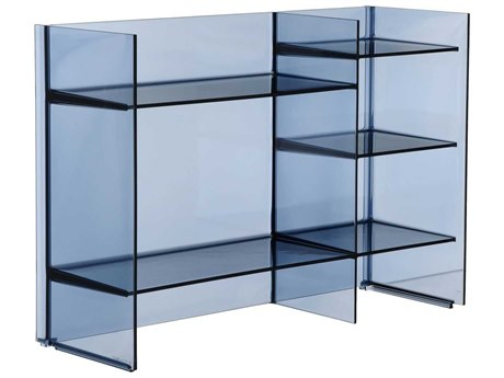 Kartell Outdoor Sound Transparent Sunset Blue Storage Rack