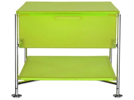 Kartell Mobil Citron Yellow 19'' Wide Rectangular One Drawer Nightstand without Wheels