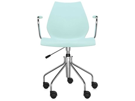 Kartell Maui on Pump Pale Green Computer Arm Chair