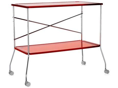 Kartell Flip Transparent Orange Folding Kitchen Cart