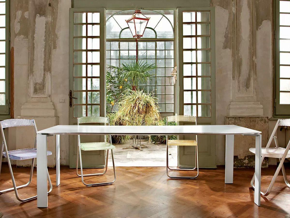 Kartell Four L X W Rectangular Dining Table KAR - Dining room table for four