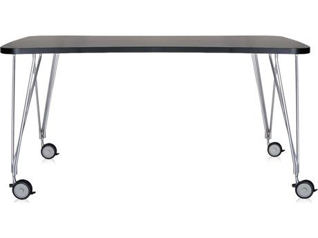 Kartell Max Computer Desk with Wheels