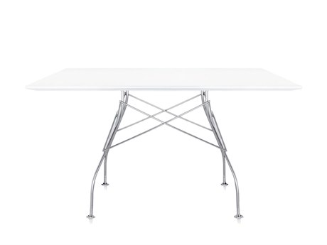 Kartell Glossy 52'' Wide Square Dining Table