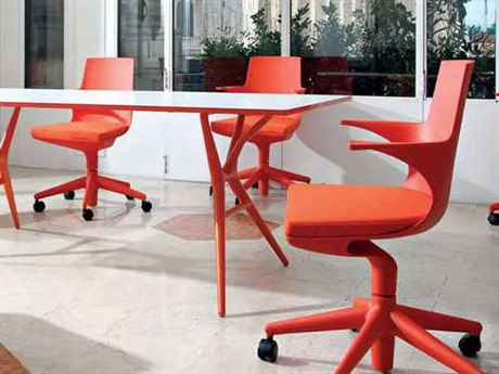 Kartell Spoon Orange Computer Chair