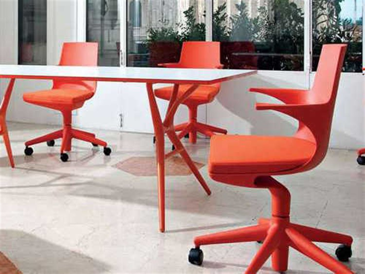 Attrayant Kartell Spoon Orange Computer Chair