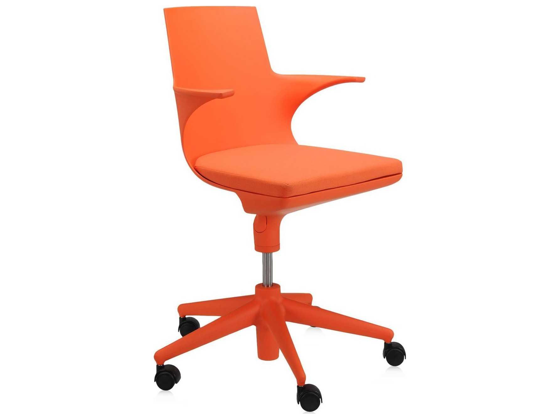 Kartell Spoon Orange Computer Chair