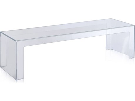 Kartell Invisible 47''L x 16''W Rectangular Coffee Table