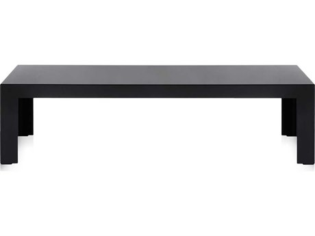 Kartell Invisible Glossy Black 47''L x 16''W Rectangular Coffee Table