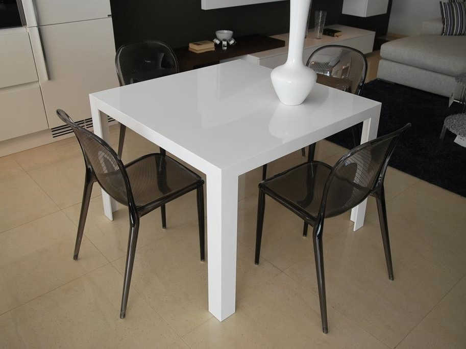 Charmant ... Kartell Invisible Glossy White 39u0027u0027 Wide Square Dining Table ...