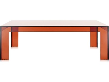 Kartell Invisible 39'' Wide Square Coffee Table