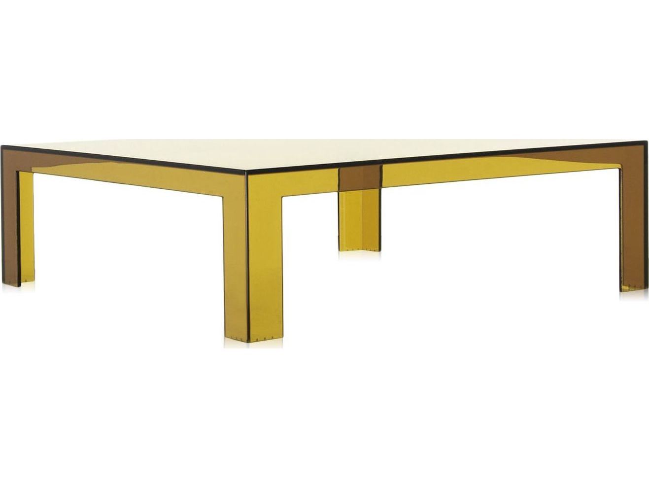 Kartell Invisible 39 39 39 Wide Square Coffee Table Kar5075