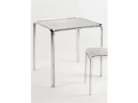 Kartell Ami Ami Transparent Crystal & Aluminum 28'' Wide Square Dining Table