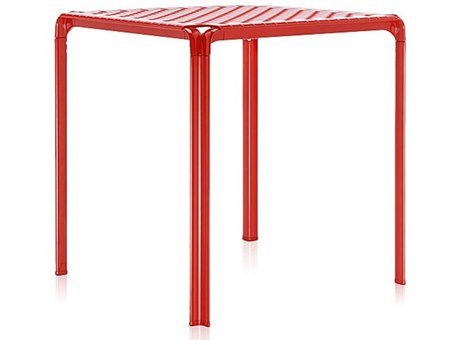 Kartell Ami Ami Red 28'' Wide Square Dining Table
