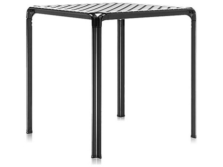 Kartell Ami Ami Transparent Smoke & Black 28'' Wide Square Dining Table